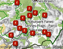 Map: Mountains and hiking