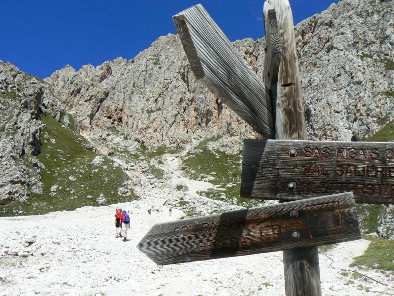 Sass Rigais Klettersteig Villnöss : Sass rigais alta badia