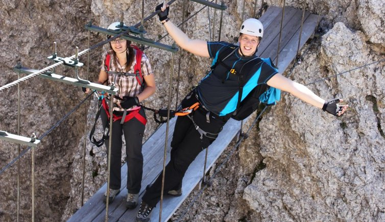 Klettersteig Pisciadu : Pisciadù klettersteig via ferrata brigata tridentina dolomiten